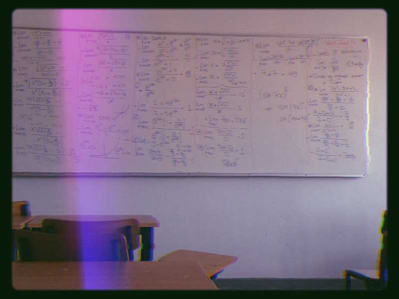 A photo of a classroom. A memory I found on my phone of my days studying at the university.